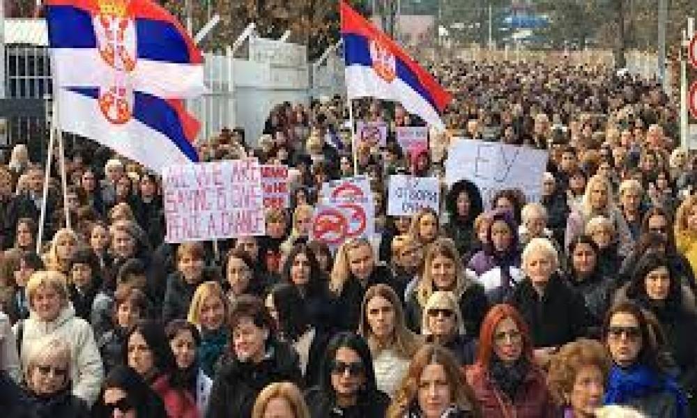 Unija žena išla na protest