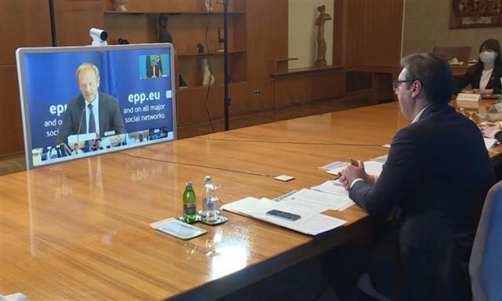 Vučić na video samitu lidera EU i ZB iz redova EPP