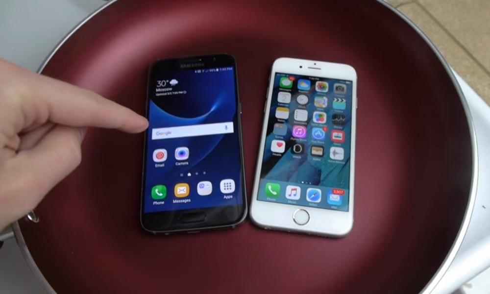 Stavio je Ajfon i novi Samsung u VRELU vodu - jedan je preživeo, šta mislite, KOJI?! (VIDEO)