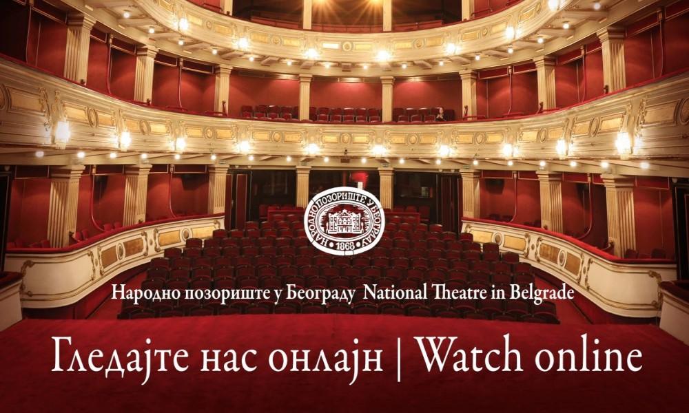 Narodno pozorište 18. marta počinje sa emitovanjem predstava putem interneta