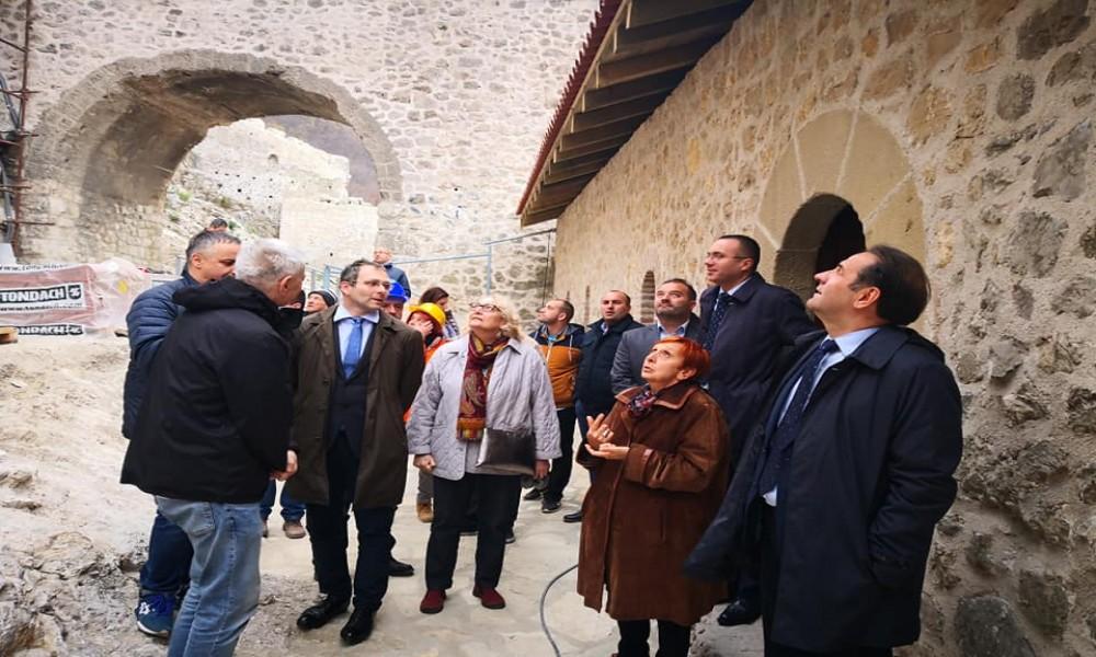 MINISTAR RASIM LJAJIĆ  POSETIO  GOLUBAČKU  TVRĐAVU