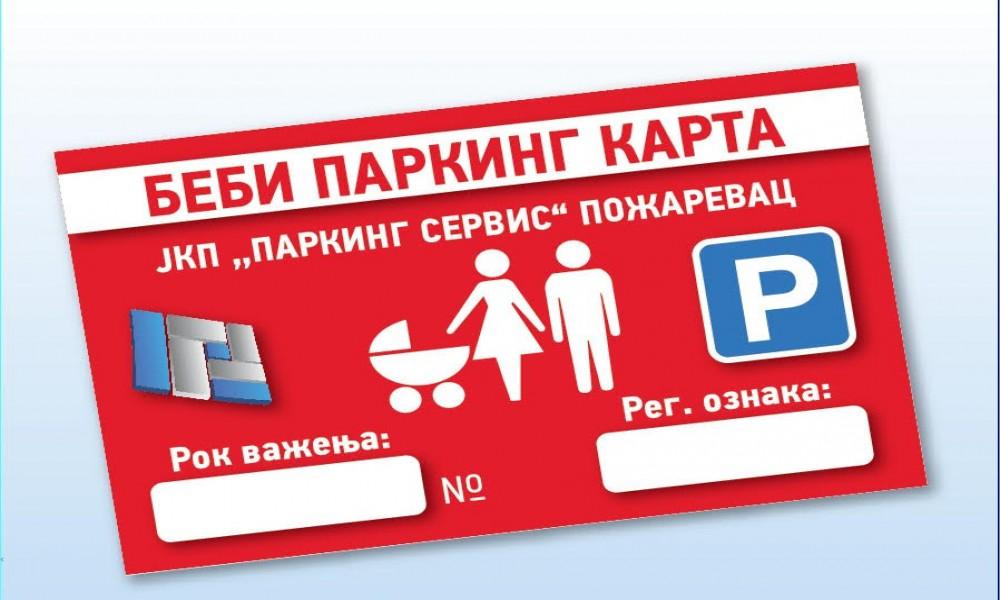 """BEBI PARKING KARTICE- DANAS NA STANDU KOD ZATVORENOG PARKIRALISTA """"PIJACA"""""""