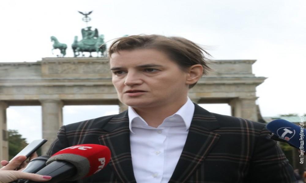 """Brnabić: Iskreni razgovori sa Merkelovom, bez """"crvenih linija"""""""