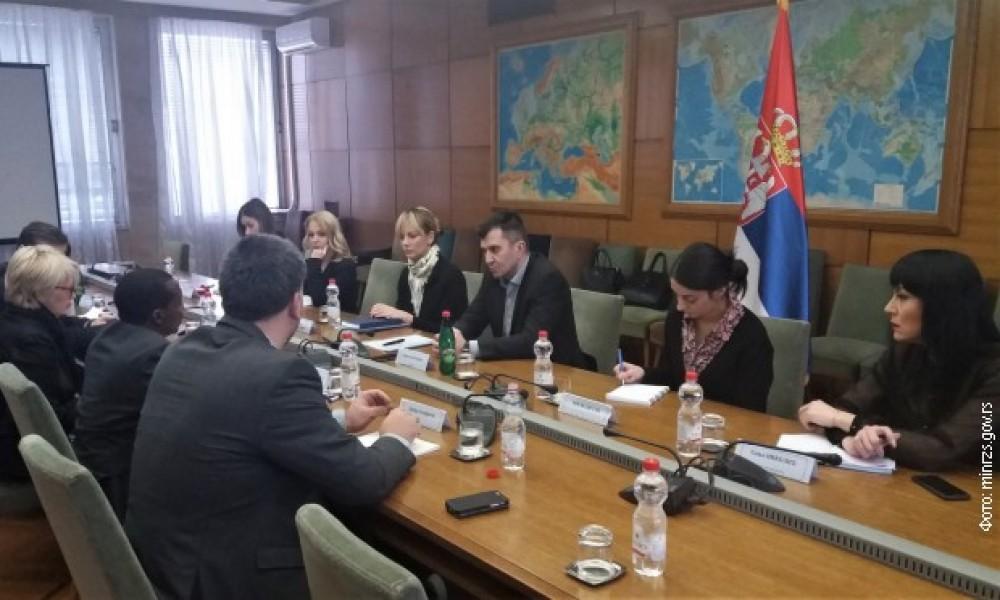 MINISTAR ĐORĐEVIĆ SE SASTAO SA  DELEGACIJOM  SVETKE BANKE U SRBIJI