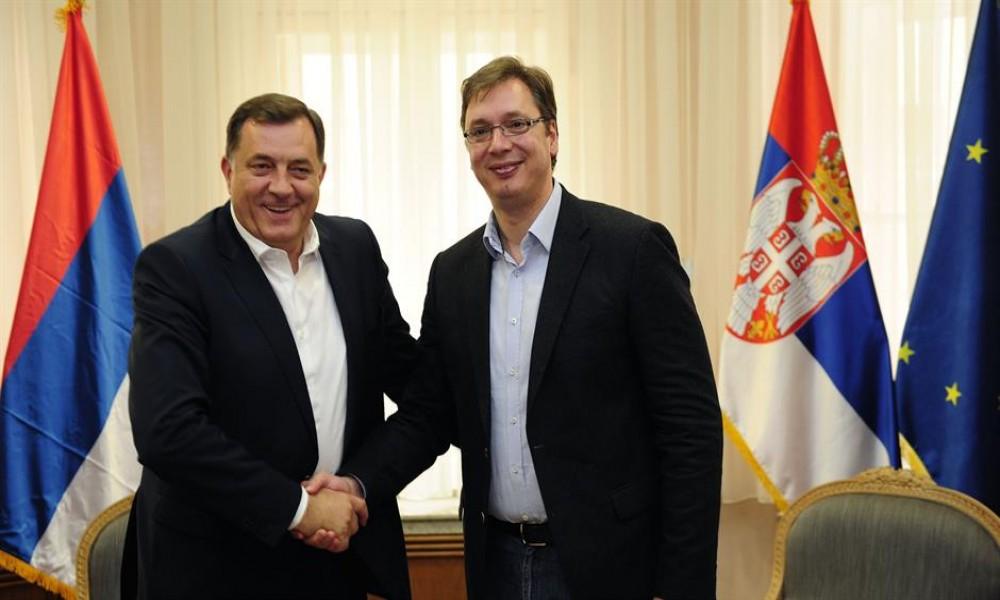 Dodik sa Vučićem i Malim obišao radove  Beogada na vodi