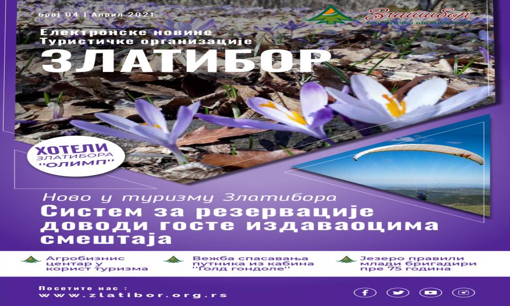 Aprilski broj Elektronskih novina Turističke organizacije Zlatibor
