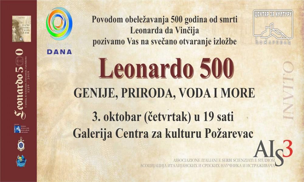 OTVARANJE IZLOŽBE LEONARDO 500 GENIJE, PRIRODA, VODA I MORE