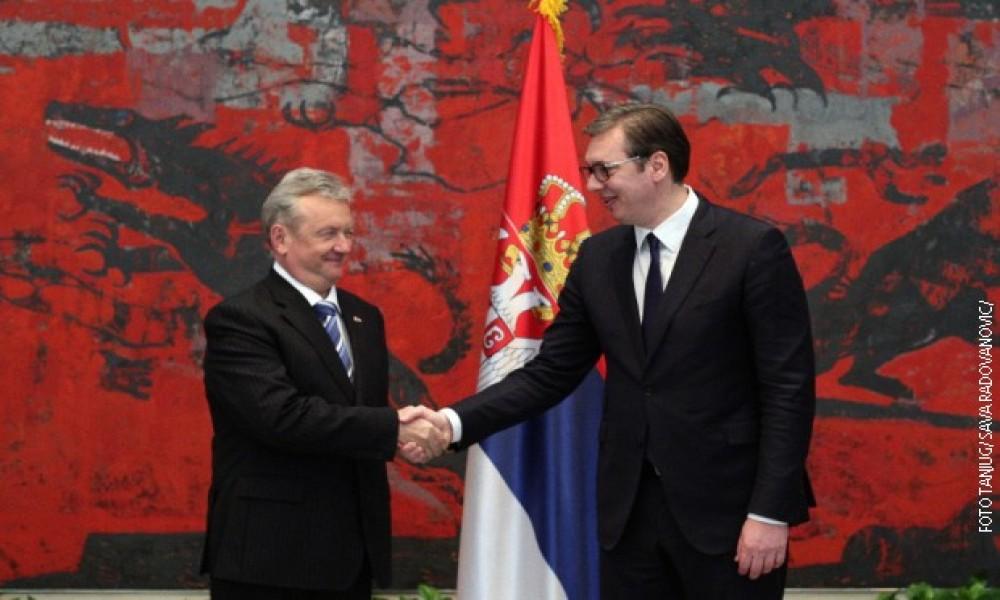 Vučić primio akreditive ambasadora Slovenije