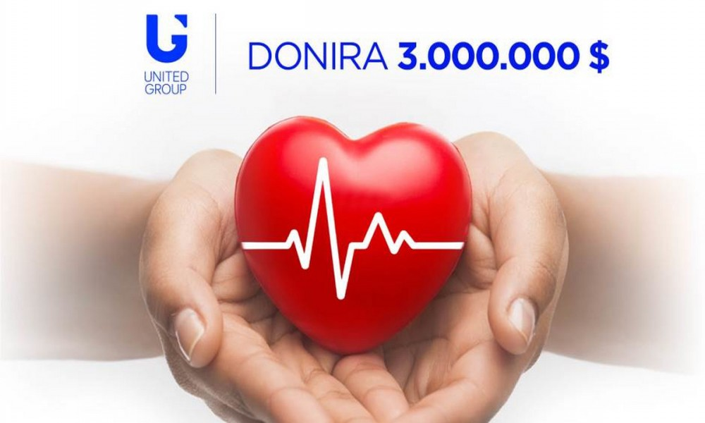 UNITED GROUP DONIRA SRBIJI MILION DOLARA