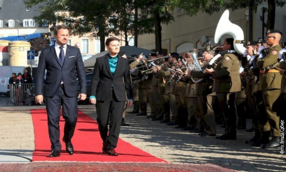 Brnabić na ceremoniji 75. godišnjice oslobođenja Luksemburga