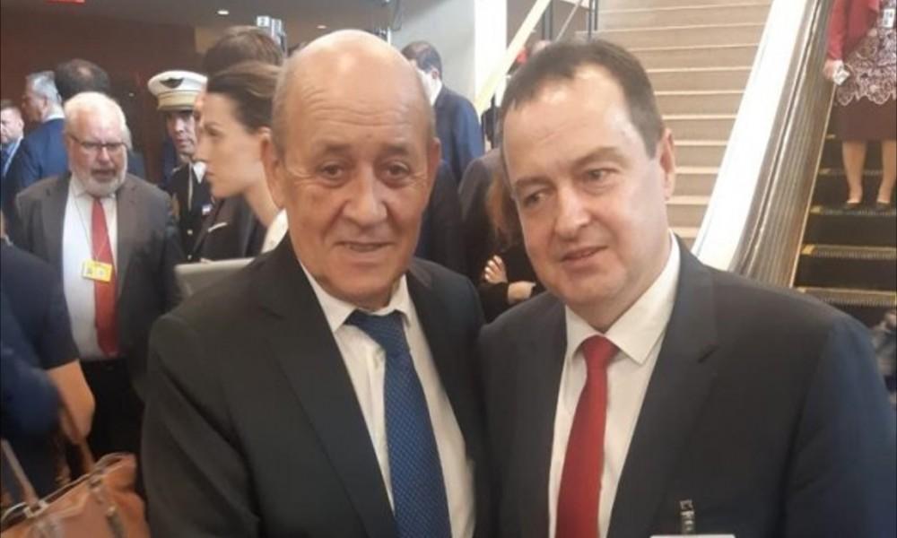 Dačić sa šefom francuske diplomatije i drugim zvaničnicima