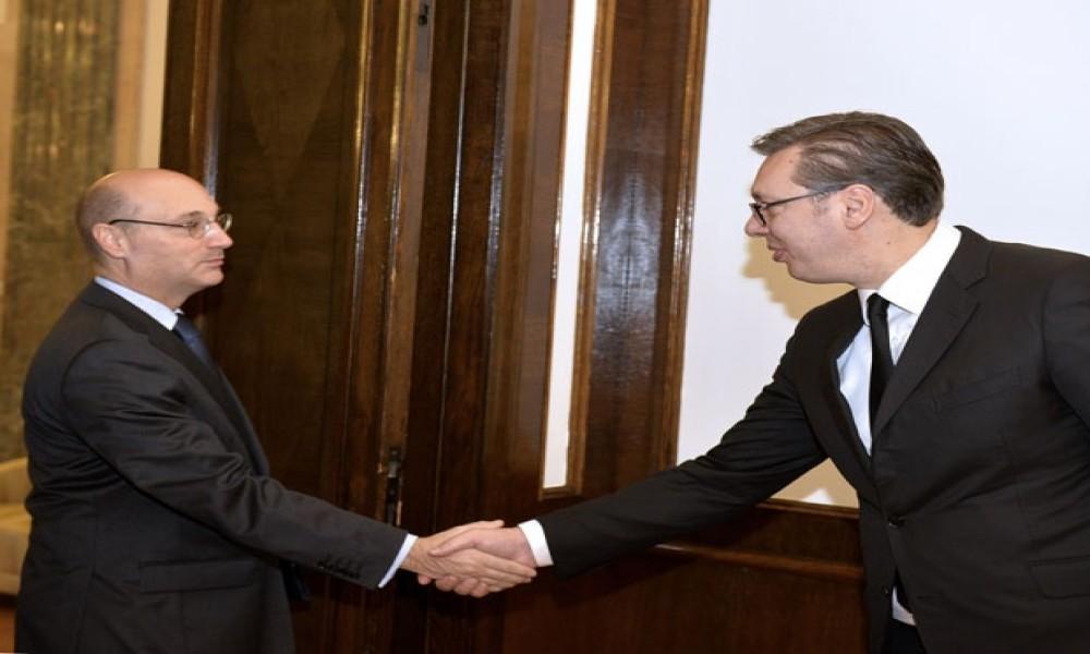 Vučić i Mondoloni razgovarali o situaciji na KiM, dijalogu i poseti Makrona
