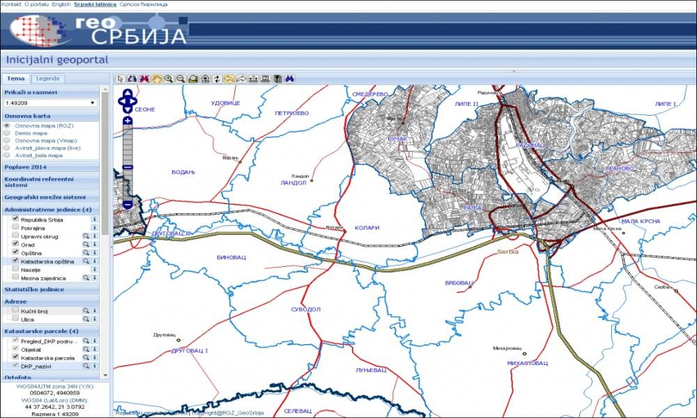 Investicione Mape Na Portalu Geosrbija Za Dve Godine