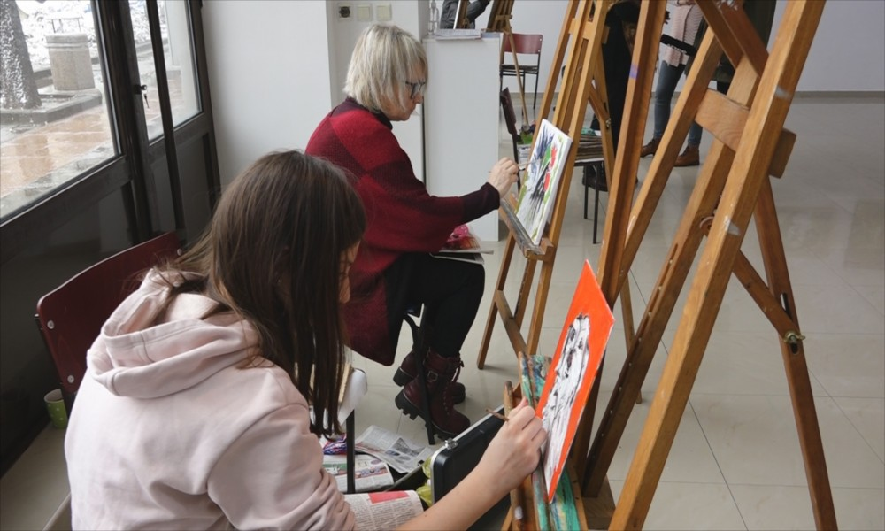 Umetnik i učenik, korak po korak