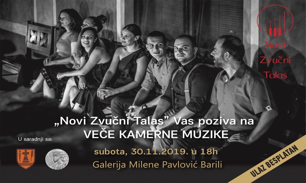 VEČE KAMERNE MUZIKE UZ NOVI ZVUČNI TALAS  U GALERIJI MILENE PAVLOVIĆ BARILI