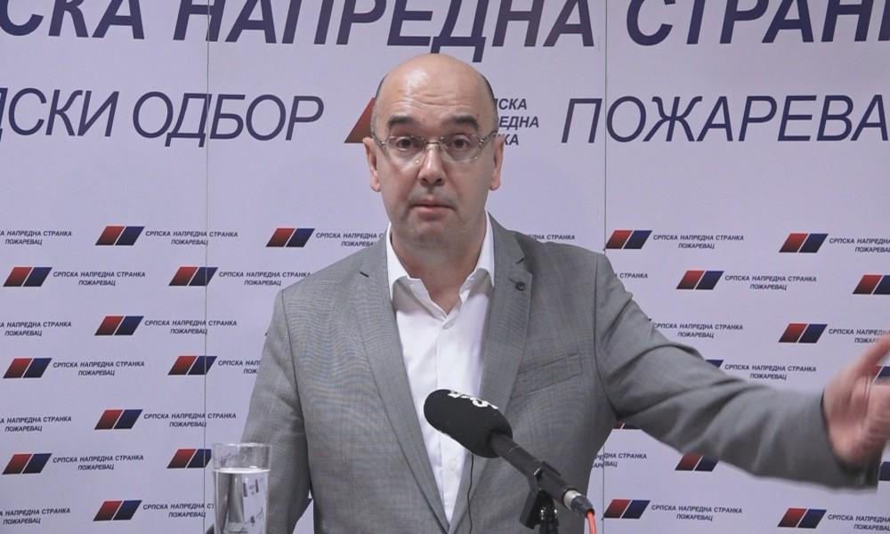 PRENOS DELA KONFERENCIJE ZA MEDIJE  PREDSEDNIKA GO SNS POŽAREVAC  BANETA SPASOVIĆA
