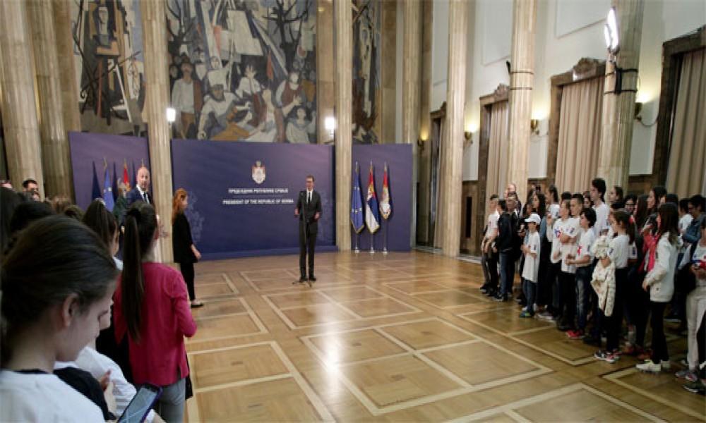 Srbi sa KiM sa predsednikom Vučićem