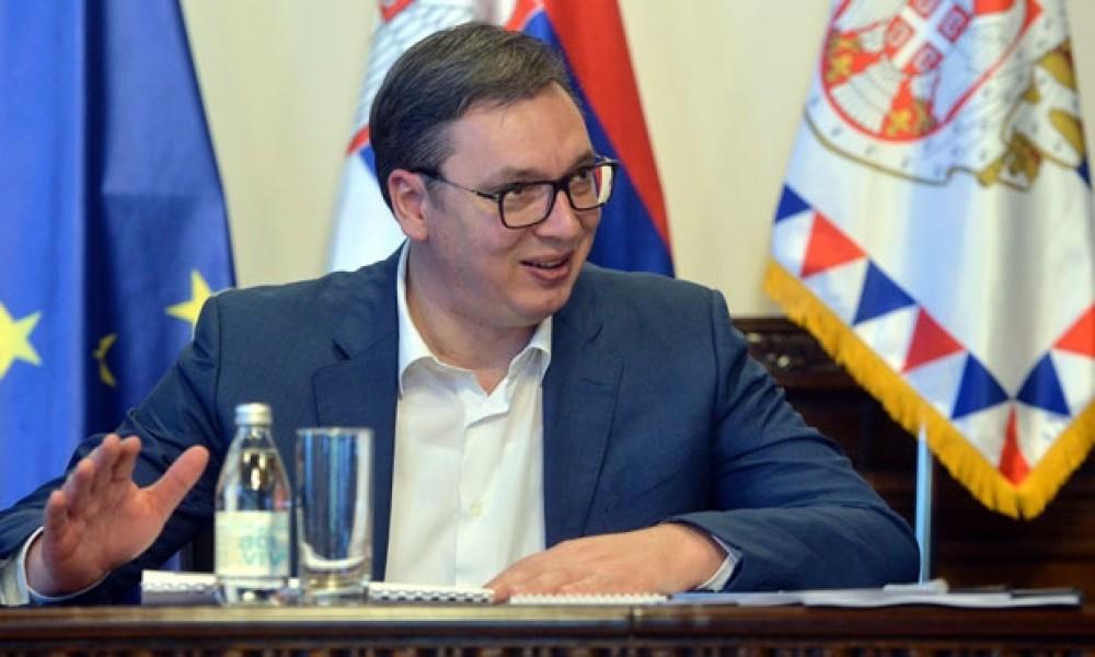 Vučić na inauguraciji novog predsednika Severne Makedonije