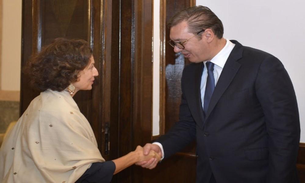 Vučić sa direktorkom UNESKO o saradnji i nasleđu na KiM