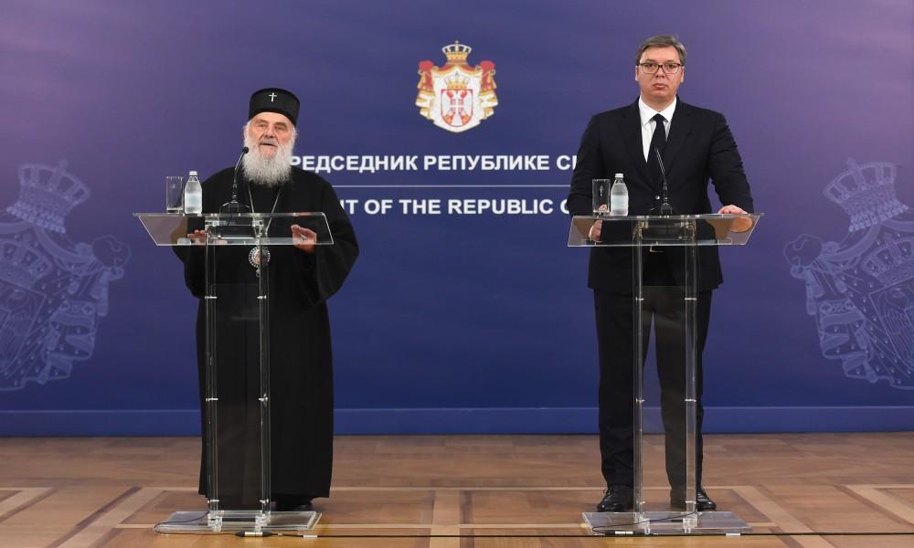 Vučić sa patrijarhom: U Crnoj Gori politika se meša u unutrašnje uređenje crkve
