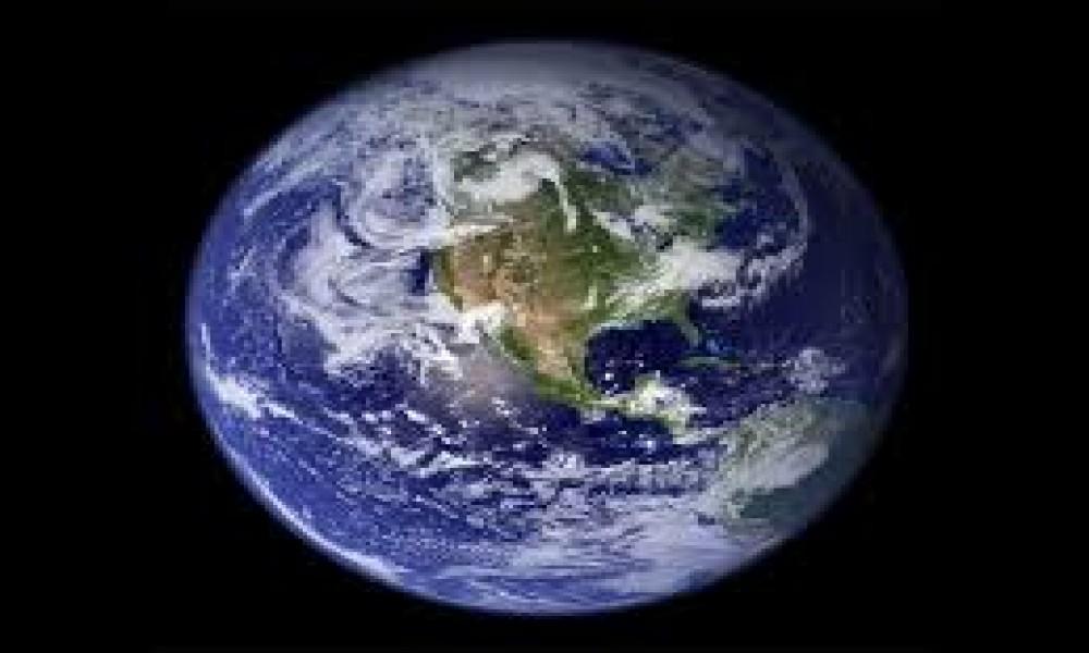 Snimak planete Zemlje iz svemira